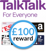 TalkTalk with choice of £100 reward card
